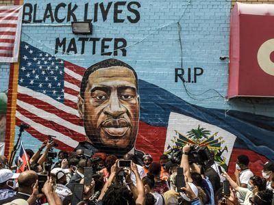 Artist Kenny Altidor unveiled this Brooklyn mural of George Floyd in July 2020.