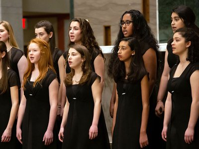 To learn more about high school choruses, a team from Smithsonian Folkways Recordings collaborated with the chorus (above) at Oakcrest, an all-girls school in Vienna, Virginia.