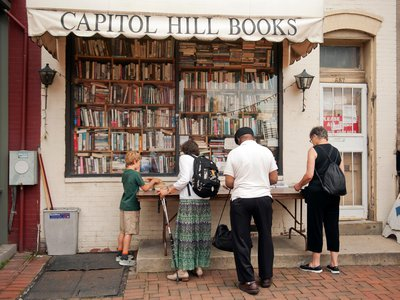 """Capitol Hill Books is one of several independent bookstores  selling """"mystery bags."""""""