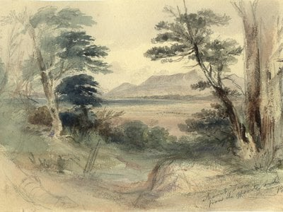 The day Darwin climbed Patagonia's Mount Tarn, Conrad Martens painted it from across the bay.