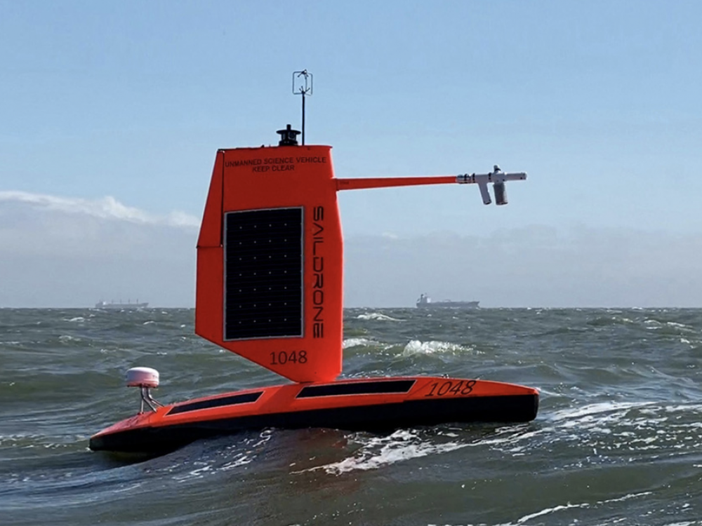 A saildrone designed for studying hurricanes at sea