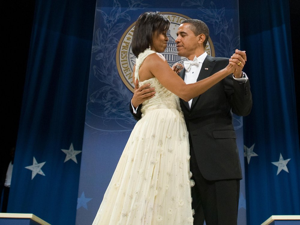 Michelle Obama in her inaugural gown.