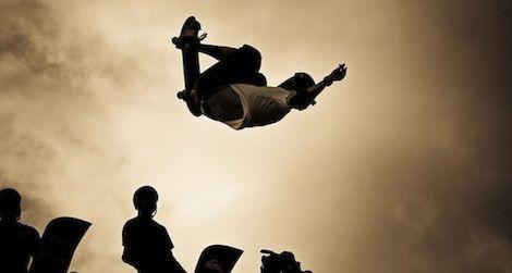 Legendary skateboarders Tony Hawk