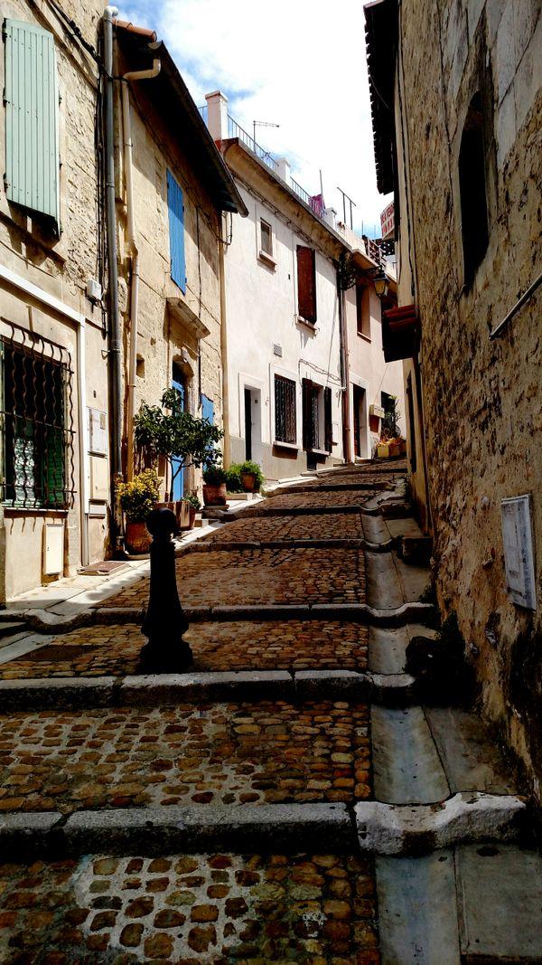 Cobblestone street in France thumbnail