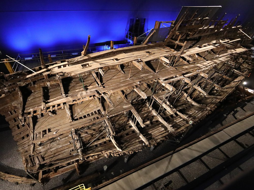 """The """"Mary Rose,"""" as seen on display in 2019"""