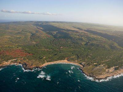 Mo'omomi Preserve on the north coast of the Hawaiian island of Moloka'i protects a dune ecosystem that boasts rare coastal species.