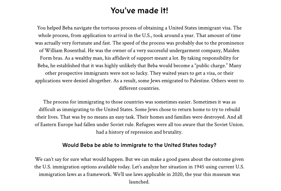 Black and white immigration game to demonstrate the difficulty of obtaining U.S. citizenship