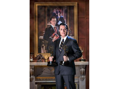 """Following the end of """"The Colbert Report,"""" the National Portrait Gallery will hang Stephen Colbert's portraits-within-a-portrait."""