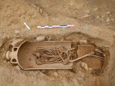 """Archaeologists say the skeletons are in an """"average state"""" of preservation."""