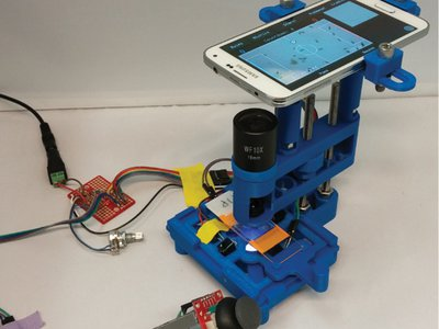 The LudusScope is an open-source, 3D printed, smartphone-integrated microscope.