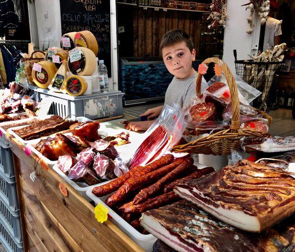 Young Boy in a Croatian Market thumbnail