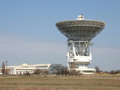 The Evpatoria radio telescope RT-70 and the Long Range Space Communications Center, which were used for one of the most ambitious efforts at extraterrestrial communication.