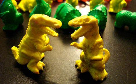 Plastic dinosaur toys