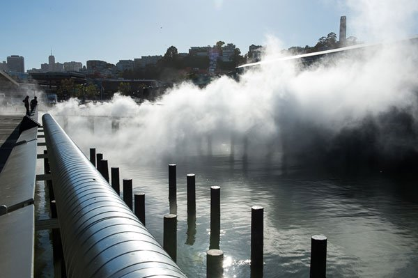 An Artist Creates Artificial Fog in San Francisco