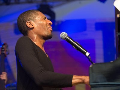 Jon Batiste and Stay Human perform at the Austin City Limits Music Festival.