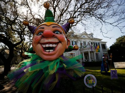 """All over New Orleans, thousands of """"house floats"""" were decorated in lieu of parade floats amid the paradeless 2021 Mardi Gras celebrations."""