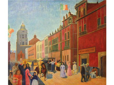 Walter Pach, Street in Mexico,