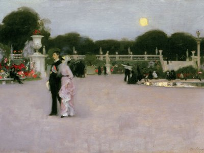 """""""It is a very simple truth,"""" novelist Henry James wrote in 1887, """"that when today we look for 'American art' we find it mainly in Paris."""" John Singer Sargent captured the pearly light of dusk in Paris in his 1879 work In the Luxembourg Gardens."""