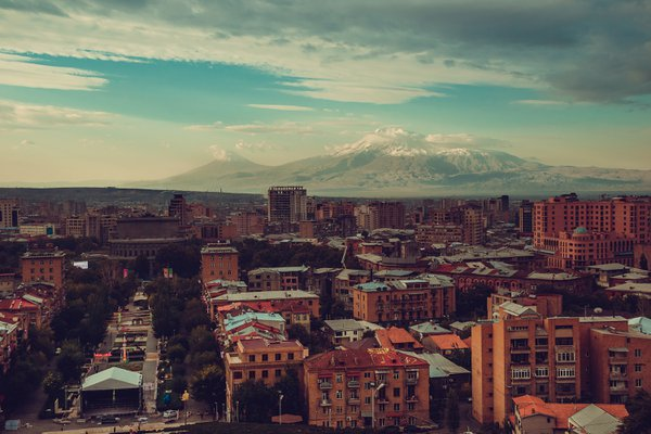 View of Yerevan city and Mount Ararat thumbnail