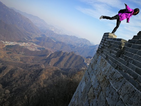 Great pose on the Great Wall thumbnail
