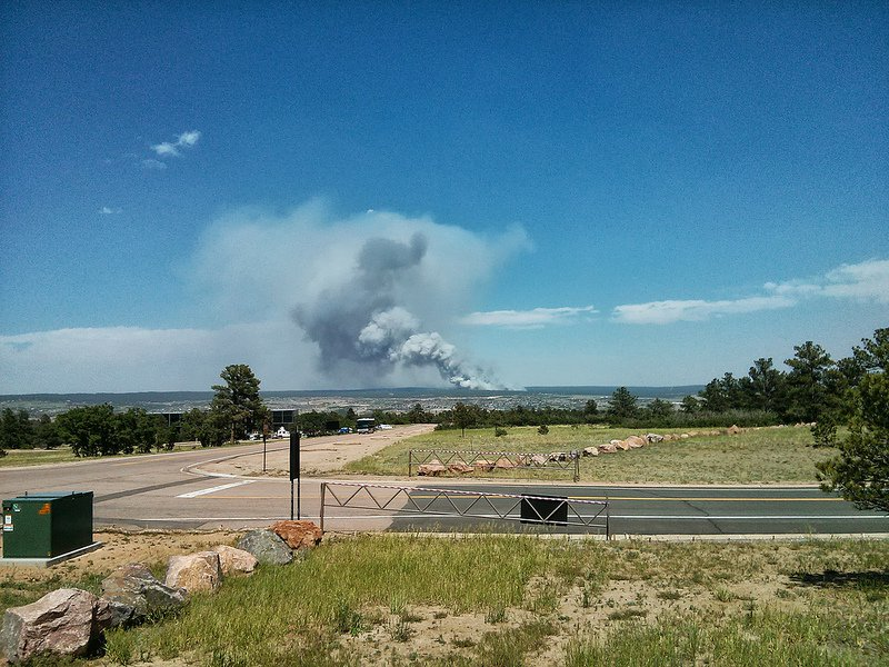 The fire near Colorado Spring as of yesterday afternoon.