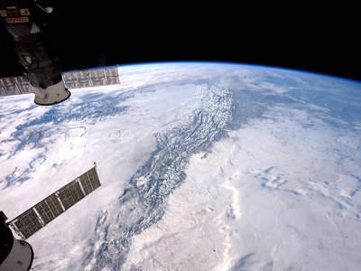 Expedition 50 Flight Engineer Thomas Pesquet of the European Space Agency photographed the Rocky Mountains from his vantage point in low Earth orbit aboard the International Space Station.