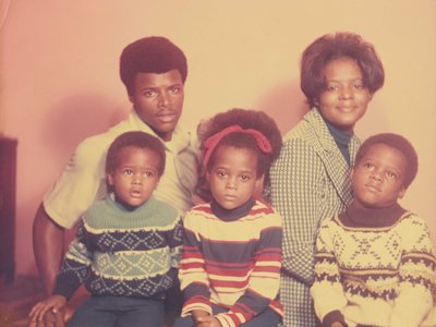 Studio family portrait, 1960–1970s, by Rev. Henry Clay Anderson