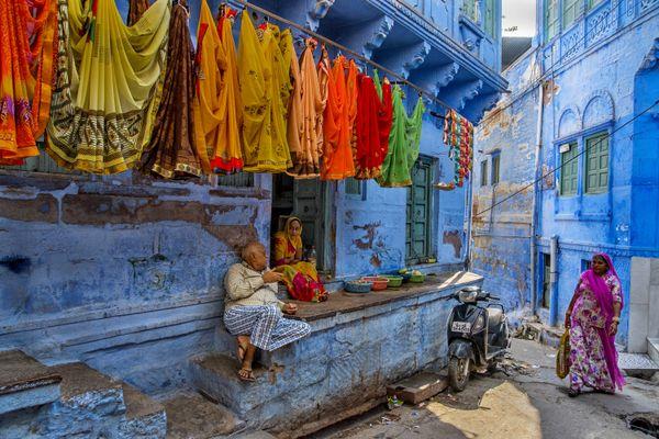 A street scene from Jodhpur. Nikon D750, 24-120 Lens, f/5.6, ISO-800, s-1/1000s, f- 24mm thumbnail