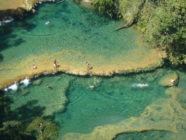 Turquoise waterfalls at Semuc Chempey, Guatemala thumbnail