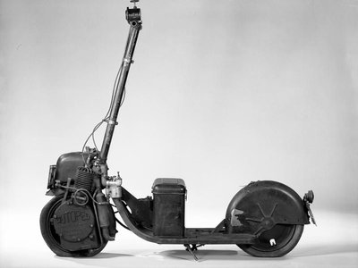 The National Museum of American History has in its collection this Autoped motor scooter from 1918.