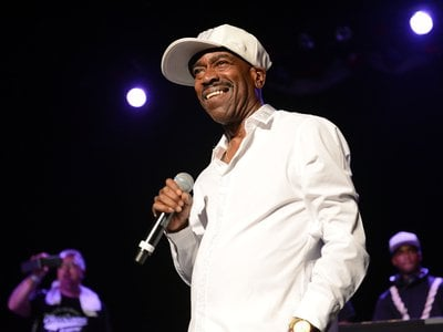 """The 1979 """"Christmas Rappin'"""" was """"so witty"""" says rapper Kurtis Blow (above in 2016 at the Art of Rap festival in Los Angeles). """"I welcomed the opportunity to do it."""""""