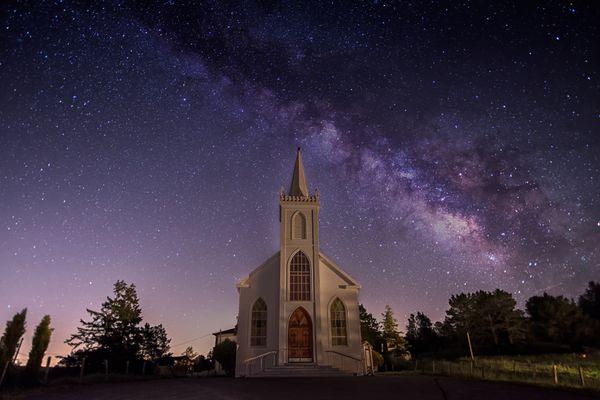 Stars Shining Above St. Teresa Church thumbnail