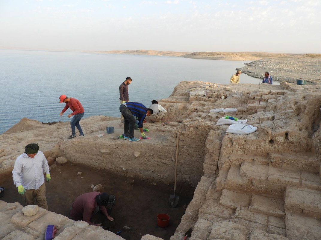 Drought Reveals Ancient Palace in Iraqi Reservoir
