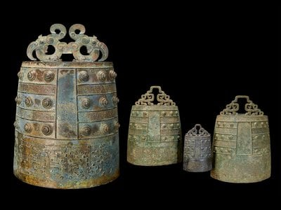 In the late Bronze Age, ca. 500-450 BCE, bells were made in sets that rang different notes according to size.