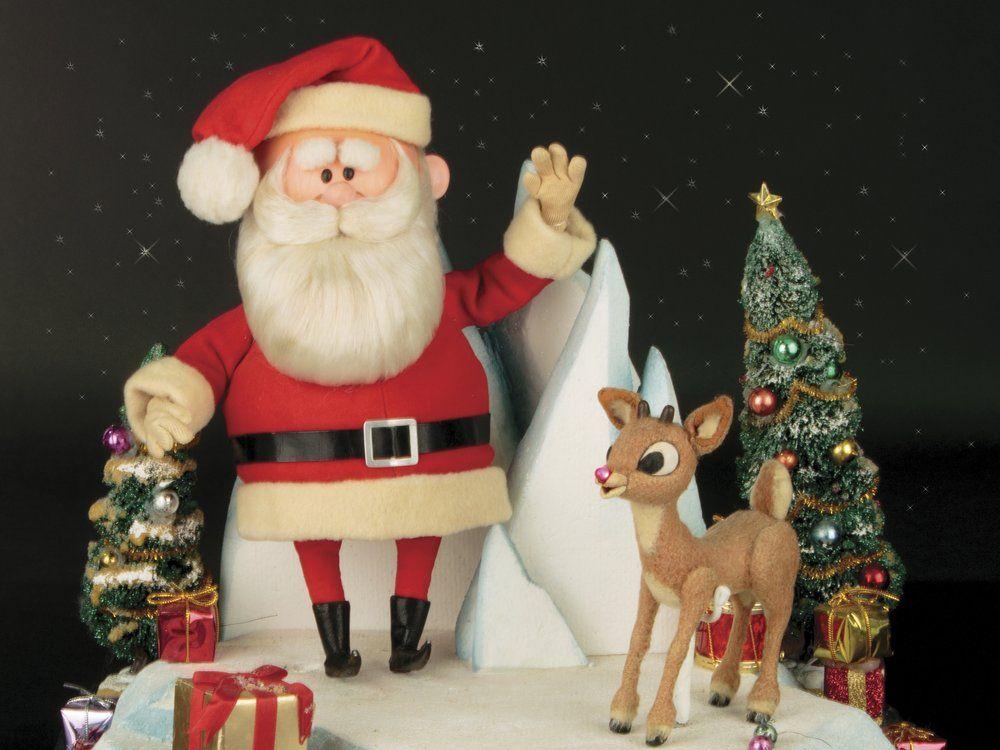 Rudolph and Santa Puppets