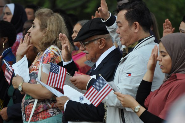 Oath during Naturalization Ceremony thumbnail