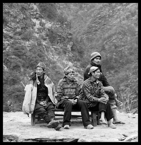 Porters in Nepal. thumbnail