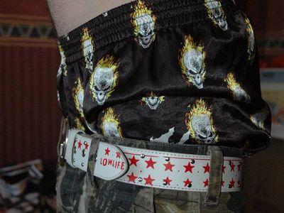 Super low-slung pants