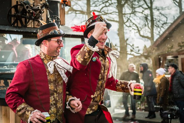 Dutch carnival goers performing in a steam-punk style thumbnail