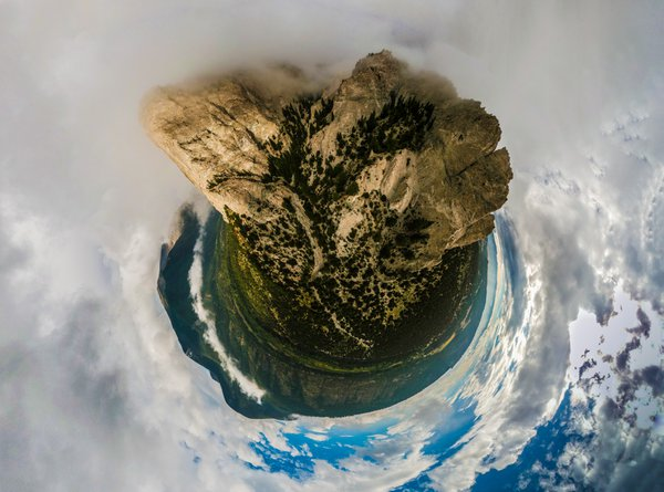 Panorama drone shot of Mt Princeton, Colorado.  thumbnail