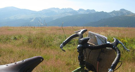 My bicycle, ready for its Bulgarian adventure