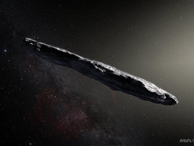 Harvard astronomers theorize that a meteor that struck Earth's atmosphere in 2014 could have been from another solar system, judging by what scientists know about 'Oumuamua, an interstellar object that zipped through our solar system in 2017. (An artist's depiction of 'Oumuamua is seen here.)