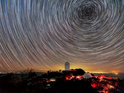DESI will analyze light collected by the four-meter Mayall telescope at Kitt Peak National Observatory near Tucson, Arizona.
