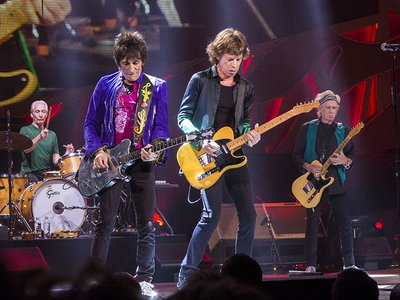 The Rolling Stones performing live at Summerfest, Milwaukee, on 23 June 2015