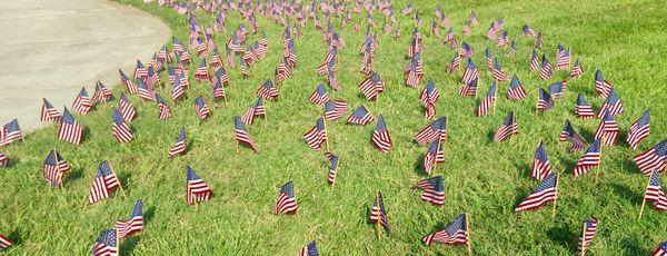 flags honoring those fallen on 9/11 thumbnail