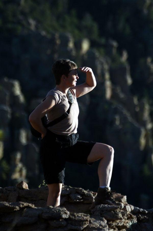 A tourist in Chiricahua National Monument. thumbnail