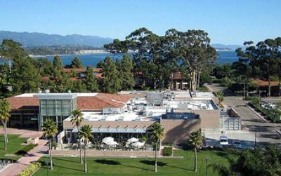 The campus of UC Santa Barbara is on the coast at Isla Vista.