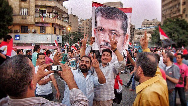 Just a year ago these people were celebrating Morsi's election.