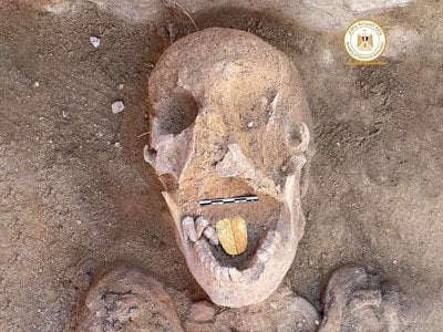 Researchers found the mummy at a temple in the ancient Egyptian city of Taposiris Magna.