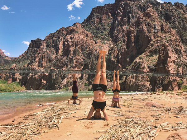 Head stands at the bottom of the Grand Canyon!  thumbnail